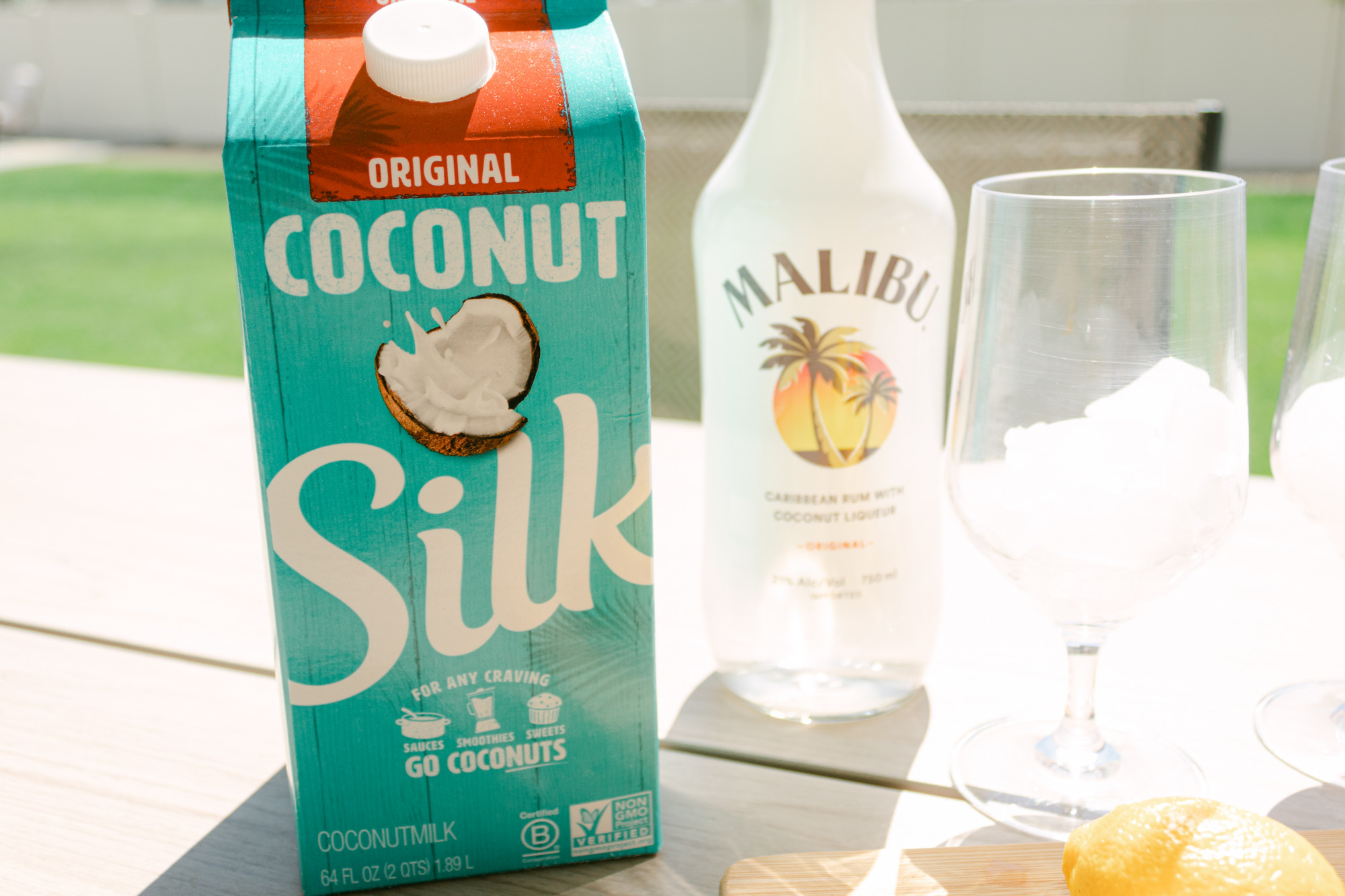 silk coconut milk for cocktail